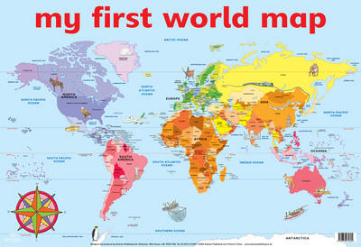 MY FIRST WORLD MAP WALL CHART