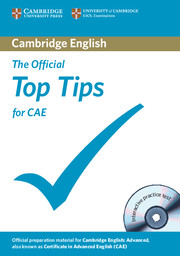 OFFICIAL TOP TIPS FOR CAE 2ND EDITION & CD-ROM