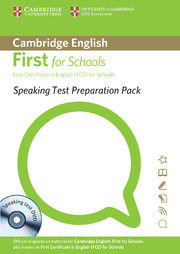 SPEAKING TEST PREPARATION PACK FOR FIRST FOR SCHOOLS WITH DVD