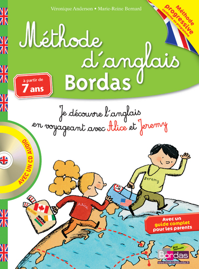 METHODE D'ANGLAIS CE1 CE2 A PARTIR DE 7 ANS + CD AUDIO