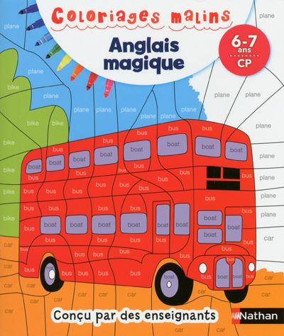 COLORIAGES MALINS - ANGLAIS MAGIQUE CP