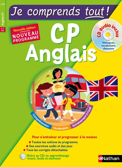 JE COMPRENDS TOUT ! ANGLAIS CP + CD AUDIO INCLUS