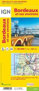 BORDEAUX ET SES ENVIRONS - 1/80 000